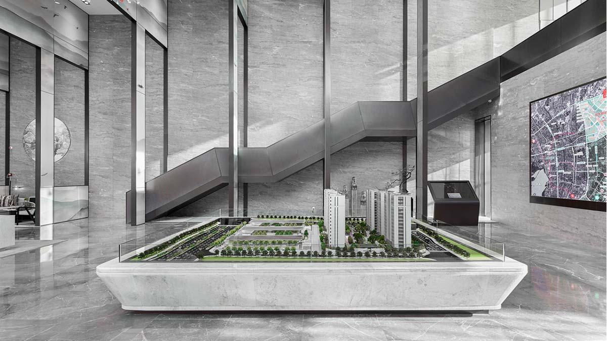 现代简约风格售楼处-杭州都会风华售楼处