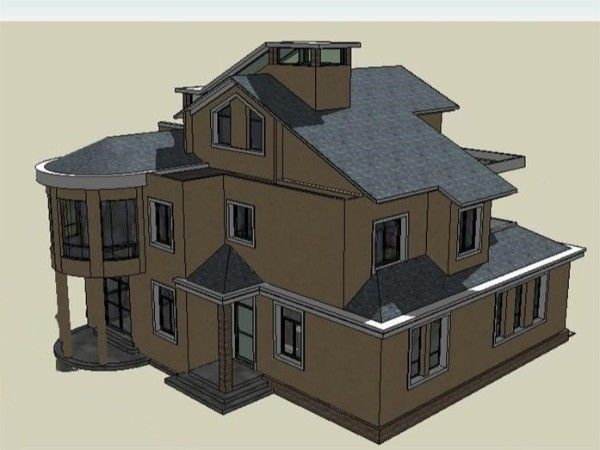 简约法式设计 有韵味的法式别墅设计作品一枚