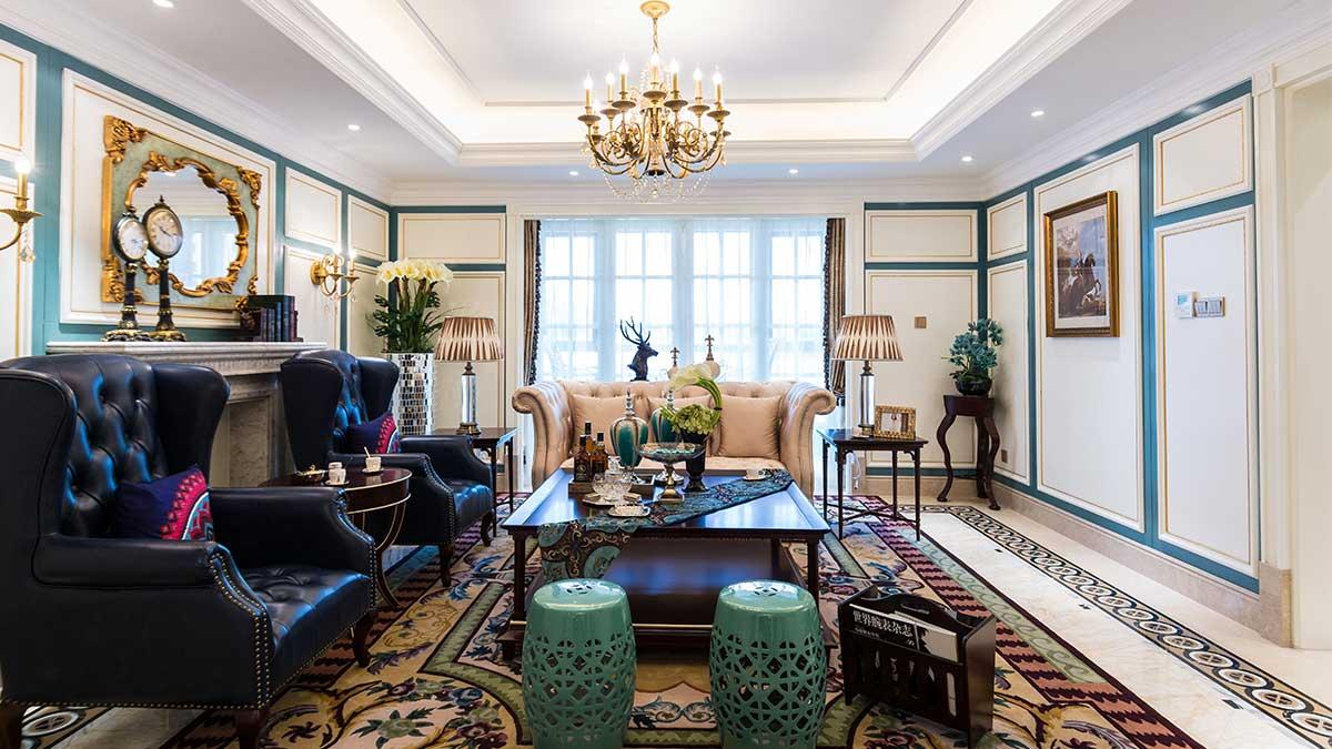 浪漫与精致的法式轻奢风格软装别墅