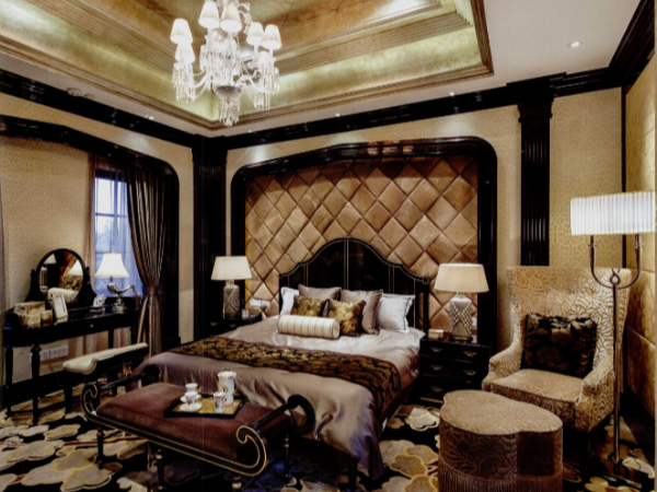 室内设计跟软装将Art Deco的摩登奢华舒适雅致渗入设计架构