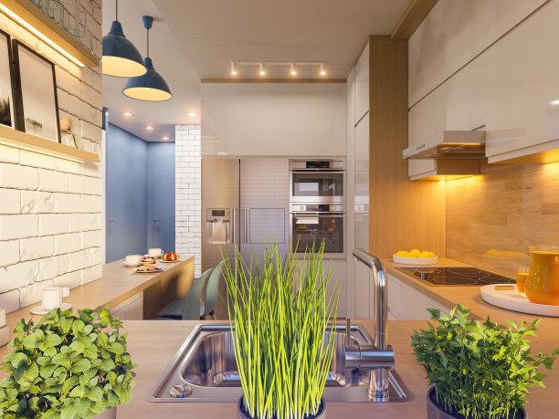 现代简约装修设计之简约厨房