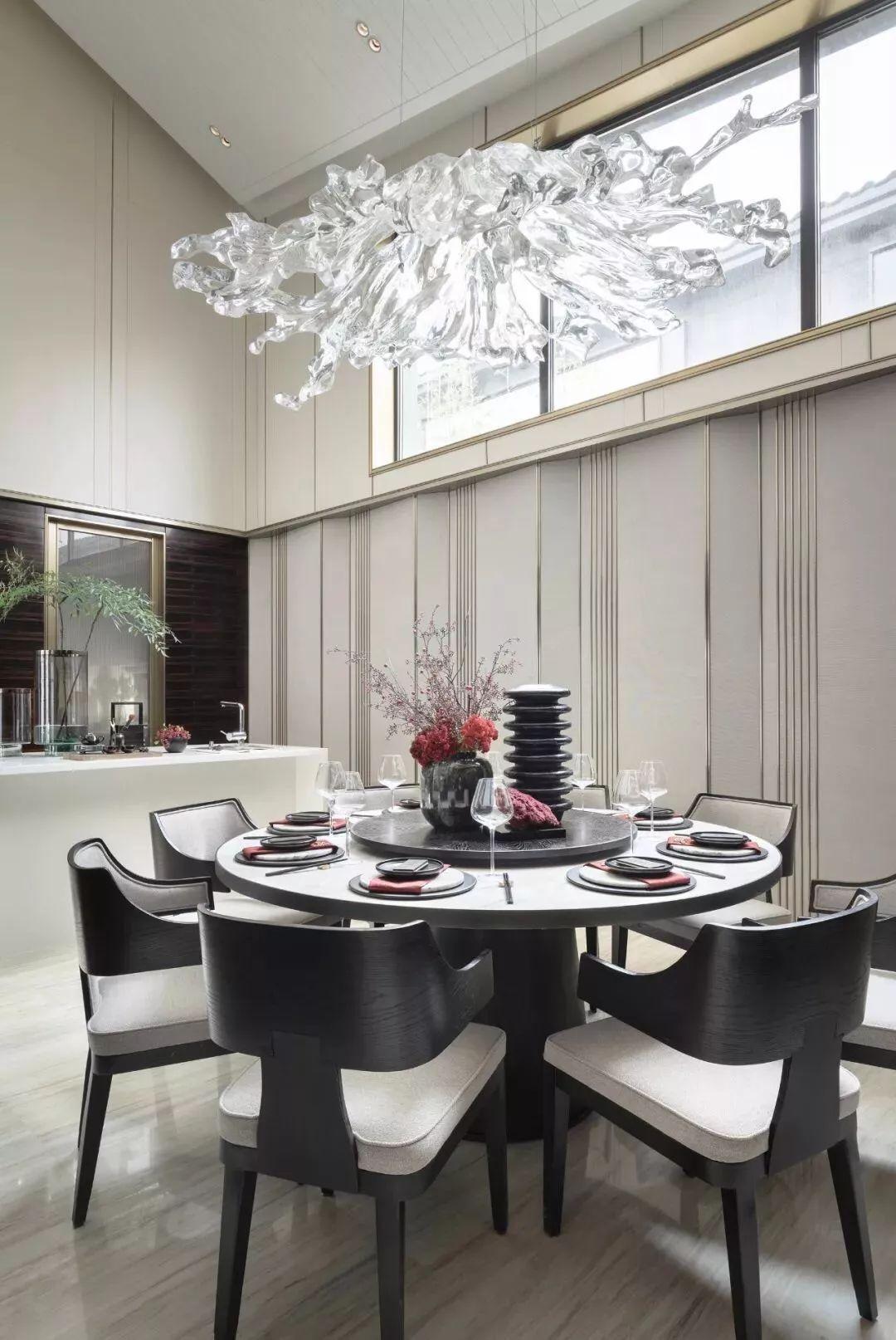 新中式风格别墅软装餐厅