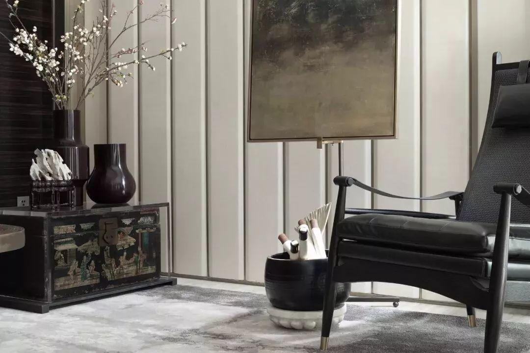 新中式风格别墅软装客厅2