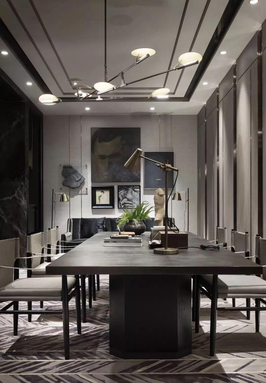 新中式风格别墅软装书房