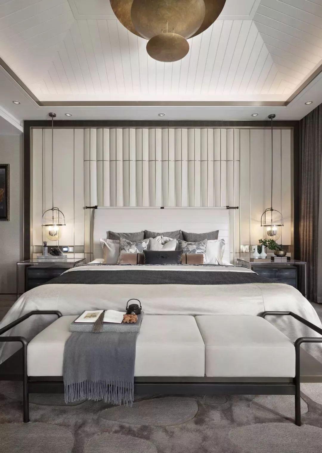 新中式风格别墅软装卧室