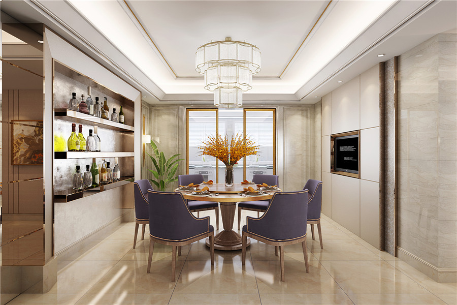 现代轻奢风格餐厅家具