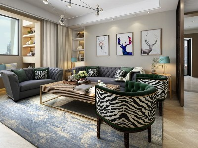 现代轻奢风格客厅家具(一)