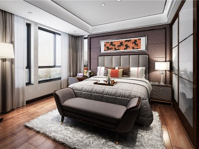 现代轻奢风格卧室家具(二)