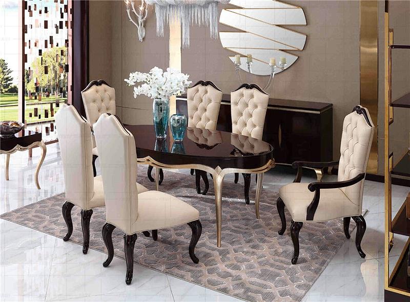 法式轻奢风格餐厅家具