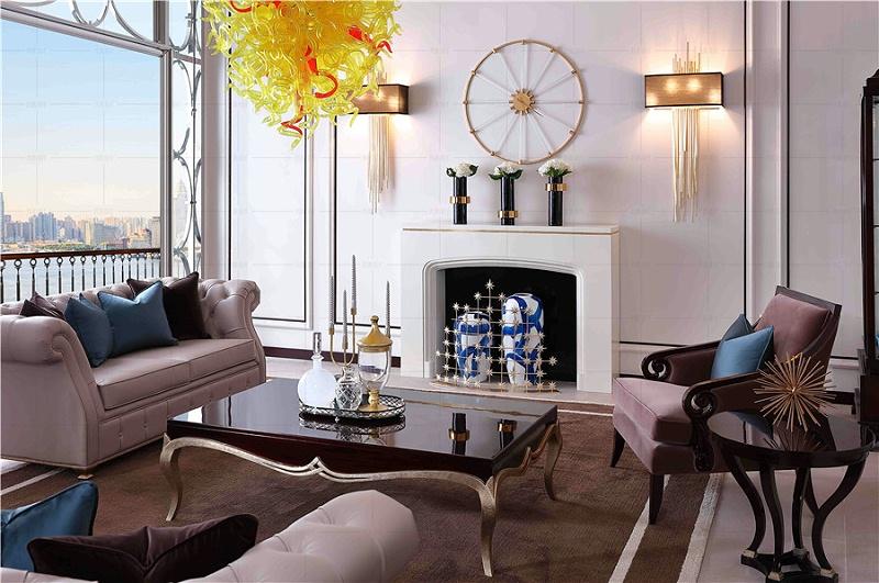 法式轻奢风格客厅家具