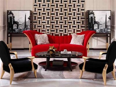 法式轻奢风格客厅家具(一)