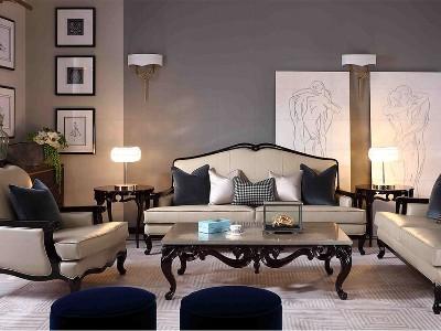 法式轻奢风格客厅家具(二)