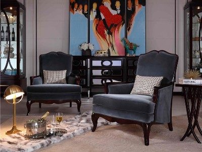 法式轻奢风格客厅家具(三)