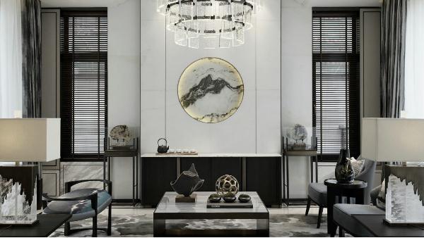 新中式-别墅软装案例四