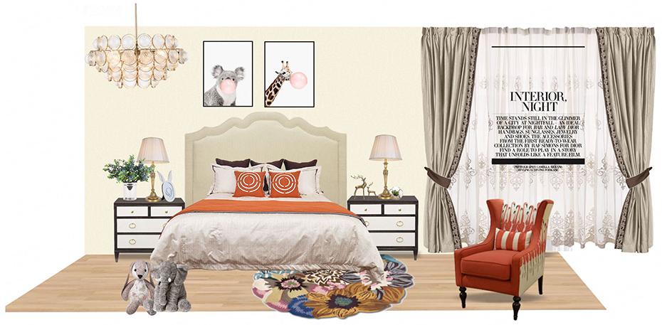 美式轻奢装修风格-儿童房