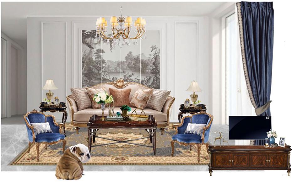 新古典装修风格-客厅