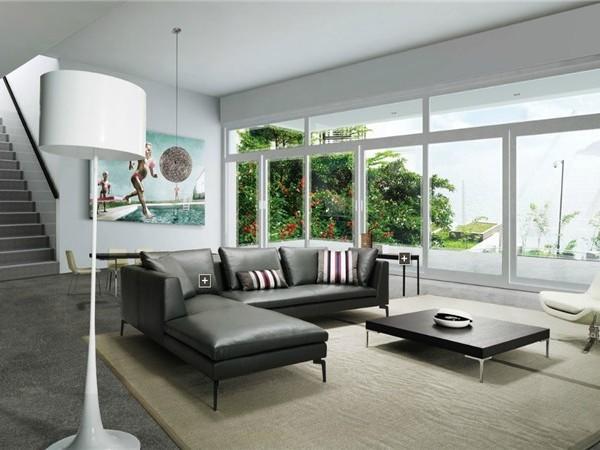 豪华住宅专业设计玻璃幕墙阁楼卧室软装效果图