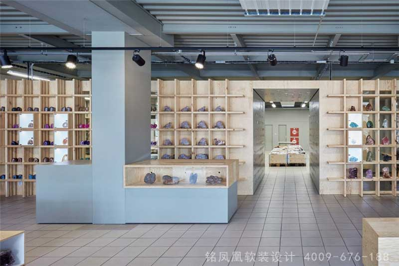 奇石商店商业软装设计