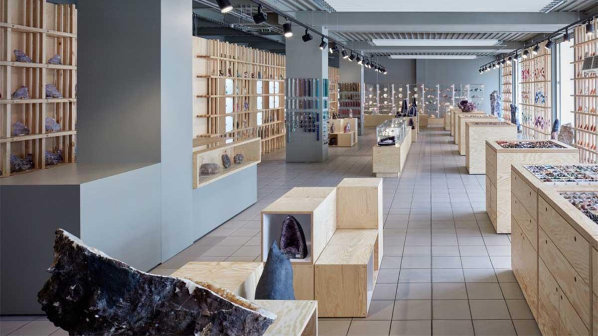 奇石商店现代简约风格商业软装设计
