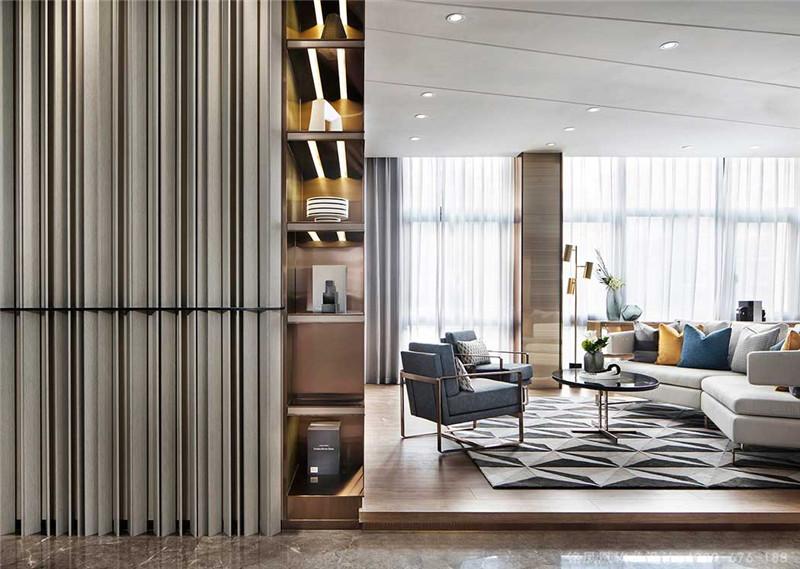 中海世纪荟售楼处现代轻奢风格软装设计