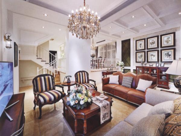 温馨与小资的别墅软装设计效果图引领整体的雍容华贵