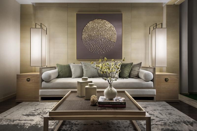 新中式别墅软装客厅