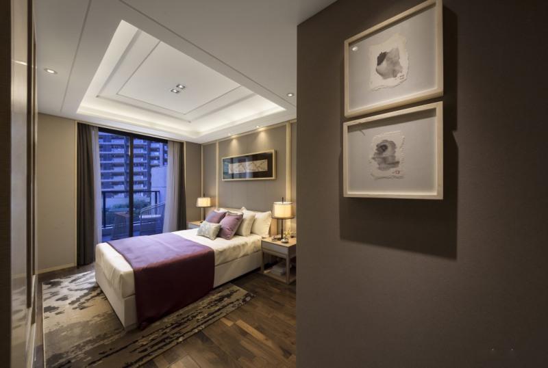 新中式别墅软装卧室