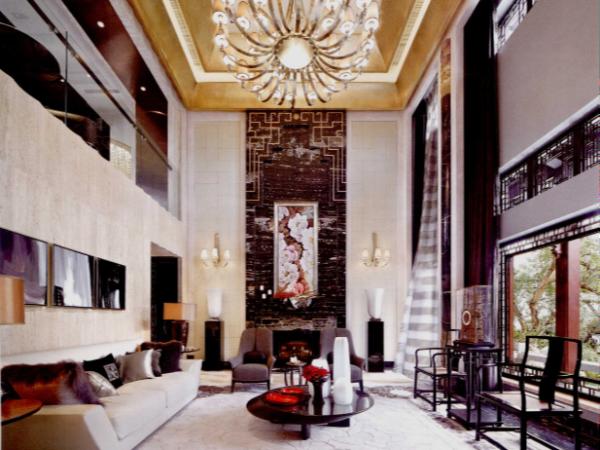 上海软装设计江南园林式别墅与现代时尚风格的结合