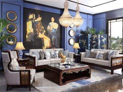 新中式风格客厅家具(四)