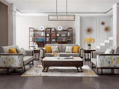 新中式风格客厅家具(七)