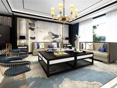 新中式风格客厅家具(八)