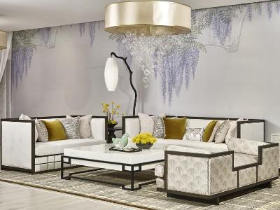 新中式风格客厅家具(九)