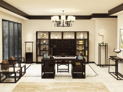 新中式风格书房家具(一)