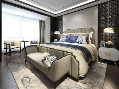 新中式风格卧室家具(一)