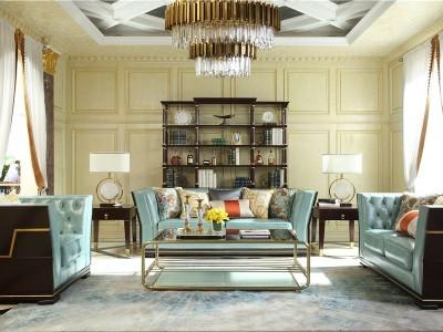 现代轻奢风格客厅家具(三)