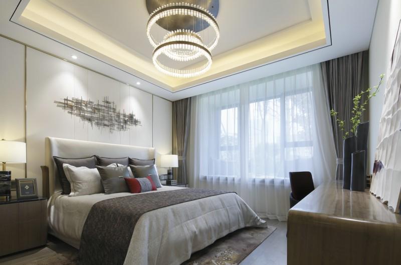 现代中式别墅卧室软装