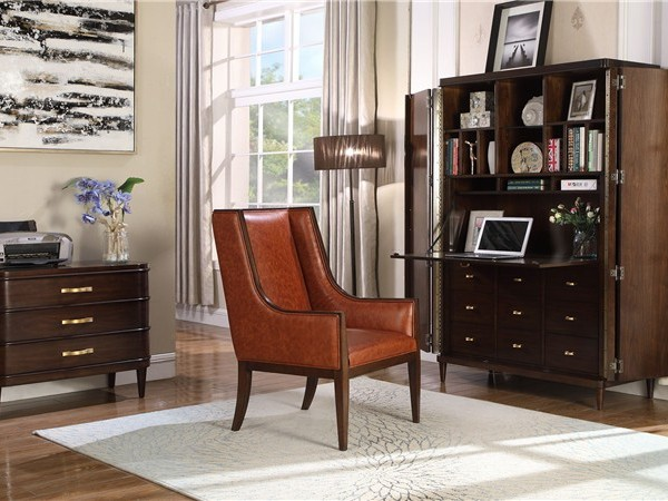 美式软装结合靓丽的软装配色调和整体家居的线条与基调