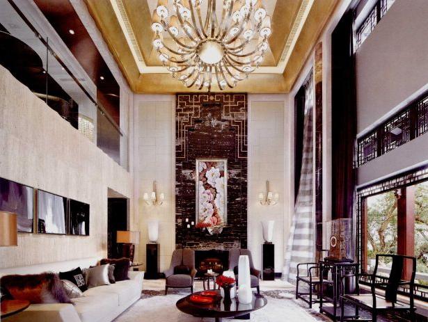 软装设计-江南园林式别墅与现代时尚风格的完美结合