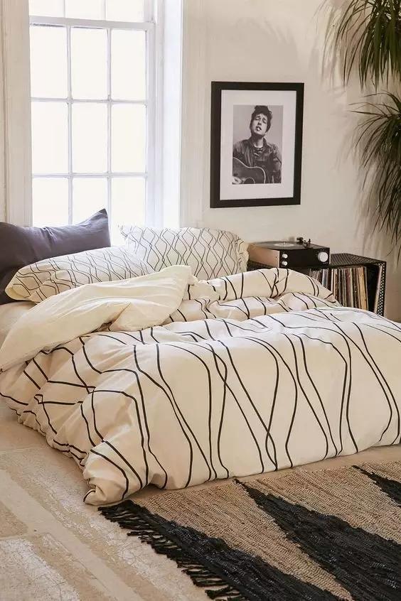 北欧装修风格软装卧室1